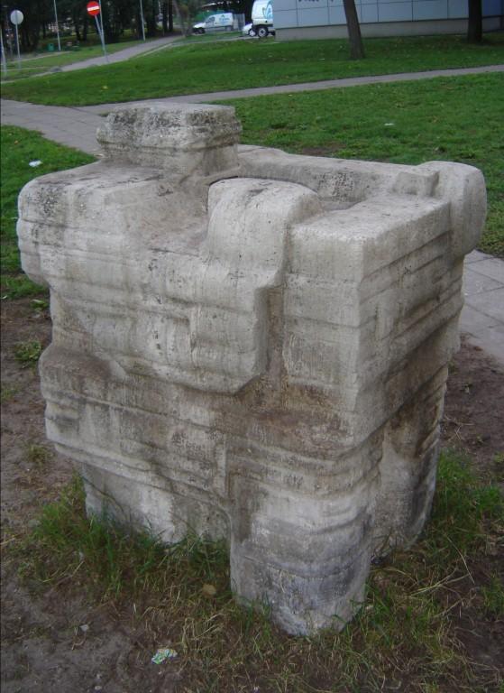 "Skulptuur ""Kunstnik"". E. Viies, 1971 (dolomiit) Foto: Sirje Simson 30.09.2006"