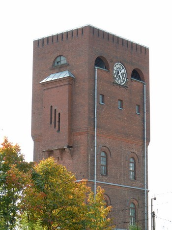 Kreenholmi veetorni ülaosa, 29.09.2011. Foto: Madis Tuuder