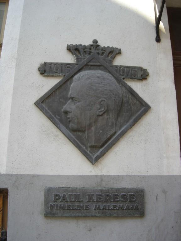 Paul Kerese mälestustahvel. O. Männi, 1977 (pronks) Foto: Sirje Simson 13.06.2006