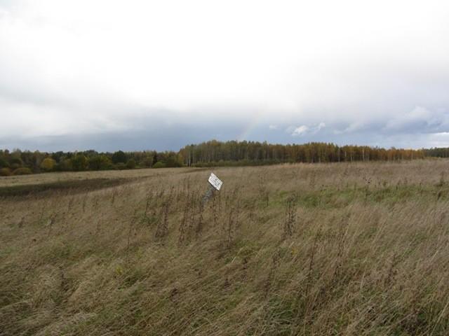 Vaade mälestise reg nr 12872 alale ning tähisele. Foto: Karin Vimberg, 11.10.2011.