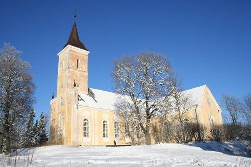 Vaade kirikule lõunast  Autor K.Lange  Kuupäev  25.01.2007