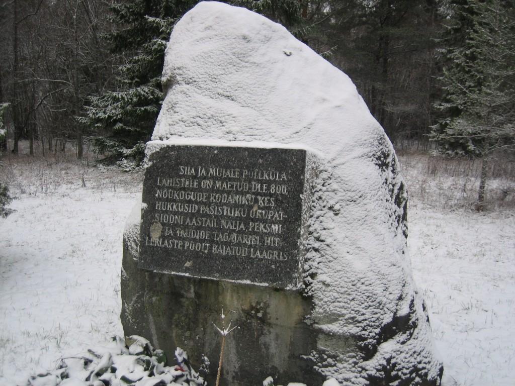 Mälestussammas  Autor S. Konsa  Kuupäev  12.02.2007