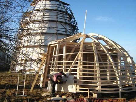 Suislepa tuuleveski restaureerimine Foto Anne Kivi 01.12.2011