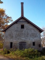 Raikküla mõisa kuivati idapoolse otsa vaade. K. Klandorf 18.10.2011