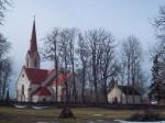 Vaade Juuru kirikule ja kabelile idast. K. Klandorf 28.03.2012