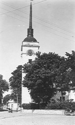 Laurentiuse kiriku vaade. XX saj. algus. Foto: Linnavalitsuse arhiiv.