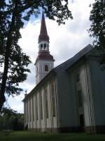 Räpina kirik. Vaade tornile kirikuaiast 05.06.2012 Viktor Lõhmus