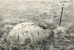 Kivikalmed 18844-18845 põhjapoolne kultusekivi - põhjast, E. Väljal, 1980ndad