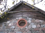 Aaspere mõisa vankrikuur, vaade idaseina ümaraknale. Foto: M.Abel 23.10.12