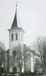 Vaade Hanila kirikule läänest, 1933. a. Läänemaa muuseumi fotokogu