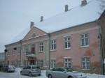 Lossi tn 7, elamu esifassaad 2012 talvel. Foto: Rita Peirumaa, 18.12.12.