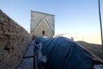 Pöide kiriku katusetööd. Kaetud võlvid. Foto: Sander Ilvest, 18.01.13.