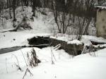 Pada mõisa vesiveski, reg. nr 16040. Vaade lõunast veskitammile. Foto: M.Abel, kuupäev 30.01.2013