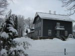 Pärsti mõisa peahoonele vaade teelt Foto Anne Kivi 11.02.2013