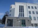 15739 Rakvere ühisgümnaasiumi hoone, näha peasissepääs, vaade läänest 21.02.2013 Anne Kaldam