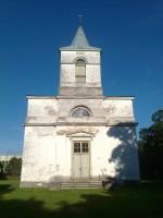 Kiriku fassaad pärast karniisi remonttöid. Foto: Rita Peirumaa, 20.08.2012.