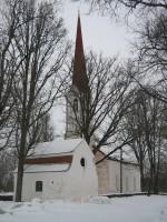 Vaade Kolga-Jaani kabelile ja kirikule Foto Anne Kivi 06.03.2013