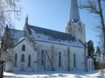Tarvastu kiriku põhjakülg. Foto: Anne Kivi, 21.03.2013