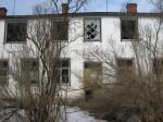 Aluvere külakooli hoone, reg. nr 5782. Vaade idast. Foto; Mirjam Abel, kuupäev 12.04.2013