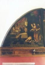"""Lünettmaal """"Herodias Ristija Johannese peaga"""", J. Aken, 1667 (õli, lõuend) Foto: Jaanus Heinla 2002"""