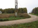 Vaade küla keskel ristmikul põhjakirdesse.  Autor Ulla Kadakas  Kuupäev  14.10.2007