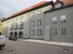 Riigikogu hoone peafassaadi algne värvilahendus taastati 2012. aastal. Foto H.Kuningas 24.10.2012