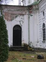 Uspenski kiriku loodepoolse sisenurga karniisi krohvikahjustused. Foto Egle Tamm, 25.10.2013.