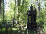 Ehistorni kujuline hauatähis Uspenski kalmistul. Foto Egle Tamm, 16.05.2014.