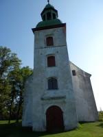 Vaade Karksi kiriku tornile. Foto: Anne Kivi, 24.07.2014