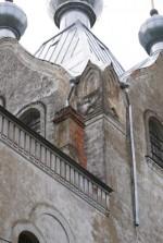 Vaade kiriku nelitise nurgale ja katustele. Foto Triin Reidla, 14.08.2014.