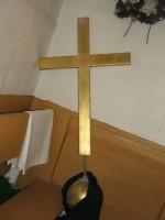 Käsmu kabel. nr. 16069 vaade tornist alla toodud ristile ja munale-  Autor ANNE KALDAM  Kuupäev  16.05.2008
