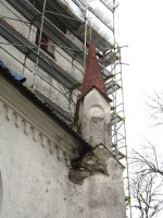 Torma kiriku tornike ja niiskuskahjustused Foto: Sille Raidvere Aeg: 05.11.2014