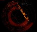 Ringskaneeriva sonari pilt vrakist. Foto: Tuukritööde OÜ 2012.