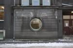 Raviasutuste kompleks Tõnismägi 5. Fragment fassaadist Hariduse tänaval. 04.01.2016. T. Aava