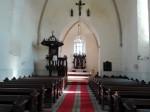 Järva-Madise kiriku sisevaade. Foto: K. Klandorf 04.04.2016.