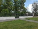 Aruküla mõisa pargi piirdemüür sepisväravaga. Foto: K. Klandorf 19.05.2016.