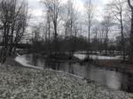 Albu mõisa park, vaade jõe äärsele alale. Foto: K. Klandorf 13.12.2016.