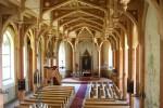 Äksi kiriku sisevaade altari suunas. Foto: Marju Raabe, 27.07.2011