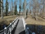 Väätsa mõisa pargi vaade paviljoni juurest (lõunast). Foto: K. Klandorf 04.04.2017.
