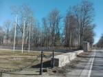 Aruküla mõisa pargi piirdemüür sepisväravaga. Foto: K. Klandorf 28.03.2017.