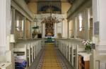 Räpina kiriku sisevaade altari suunas. Foto: Marju Raabe 04.07.2017