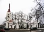 Laurentiuse kiriku vaade Tallinna tänavalt. Foto: Lilian Hansar. Kuupäev  01.12.2004