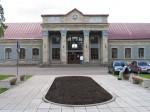 Raudteejaama peahoone keskosa põhjakülg.  Foto: Urmas Oja, 2004