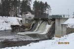 Tudulinna hüdroelektrijaam. Vaade lõunast. Foto: Kalle Merilai 20.01.2017.a.