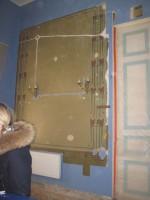 Kuremaa mõisa peahoone Fuajee restaureerimine. Ca 1900 aasta juugend seinamaaling. Foto: Sille Raidvere  Aeg: 16.01.2018