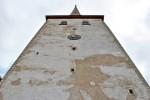 Krohvikahjustused torni lääneseinal. Foto 30.08.2012
