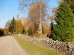Kodavere kalmistu müür. Foto autor I. Raudvassar 16.10.2016.
