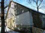 Salla mõisa viinaait. Foto: Raili Uustalu 19.03.2018. Vaade hoone otsaküljele kagust.
