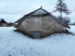Udriku mõisa kelder. Foto: Raili Uustalu 07.12.2018. Vaade keldri otsaküljele  kagust.