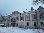 Liigvalla mõisa peahoone. Foto: Raili Uustalu 31.12.2018. Vaade hoone esiküljele läänest.